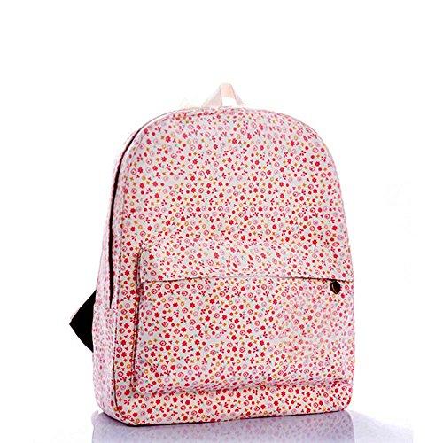 OUFLY lindo amarillo claro y crisantemo pastoral estilo lona mochila mochila de impresión de viajes Daypack impreso mochila hombro bolsa mochila escuela escuela bolsa para mujeres Damas Chicas Flores Pastorales Rosadas