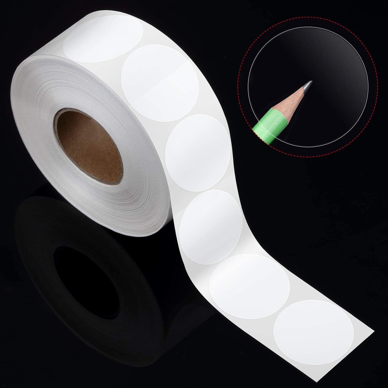 2000 Pezzi Chiaro Pacchetto di Vendita al Dettaglio Rotondo Chiaro Sigillo Etichette Adesivi Sticker Rotondo Busta Adesivi Trasparente Stile A