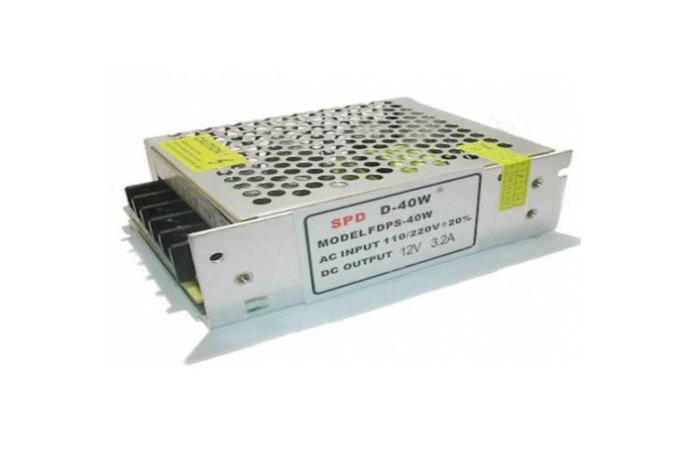 Transformateur stabilisé pour bande LED 5050 ou 3528 220V 12V 3 A Led Leds