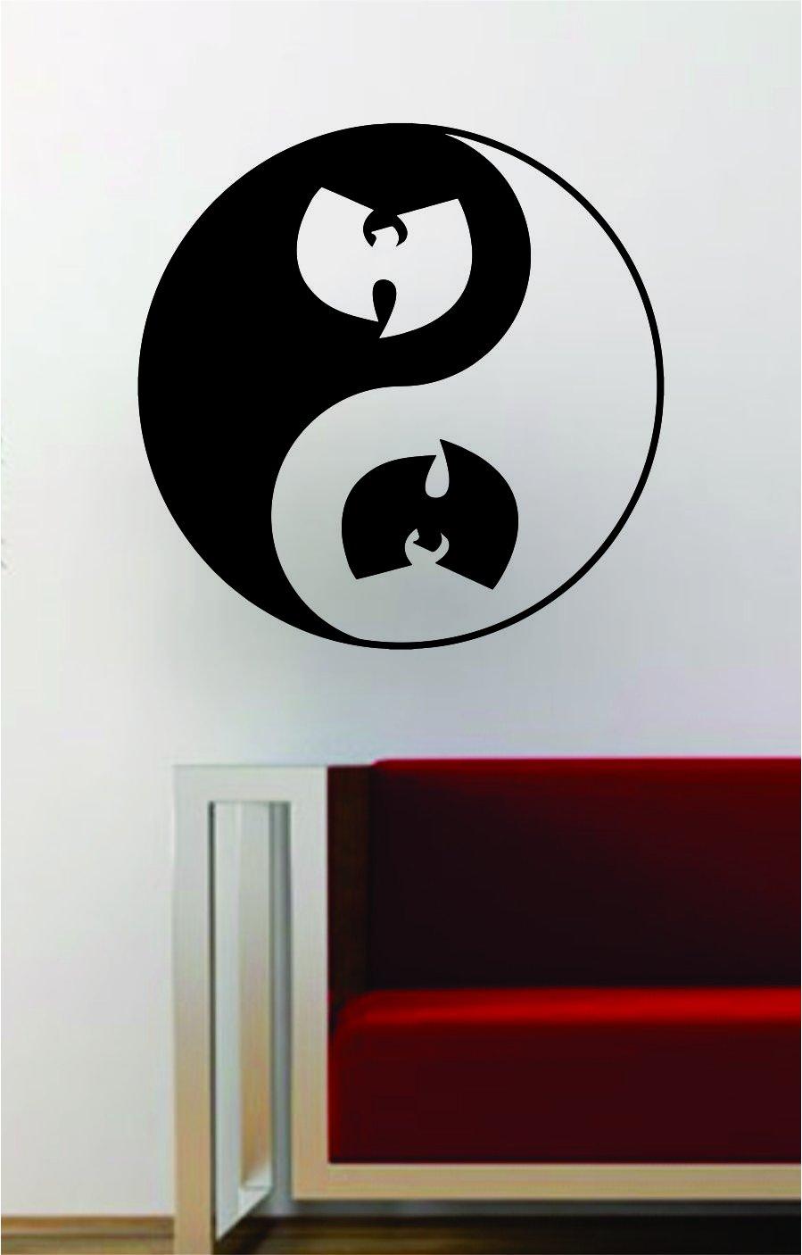Amazoncom Wu Tang Clan Yin Yang Hip Hop Rap Quote Decal Sticker