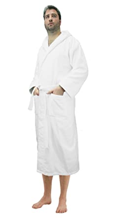 77432af6fa Amazon.com  Robesale Women s Cotton Velour Hooded Bathrobes  Clothing