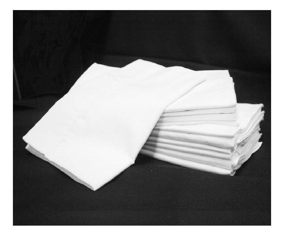 24 (2ダース) ホワイトホテル 枕カバー 標準サイズ ジョージアタオル スプリーム t180 B07JL9PJB3