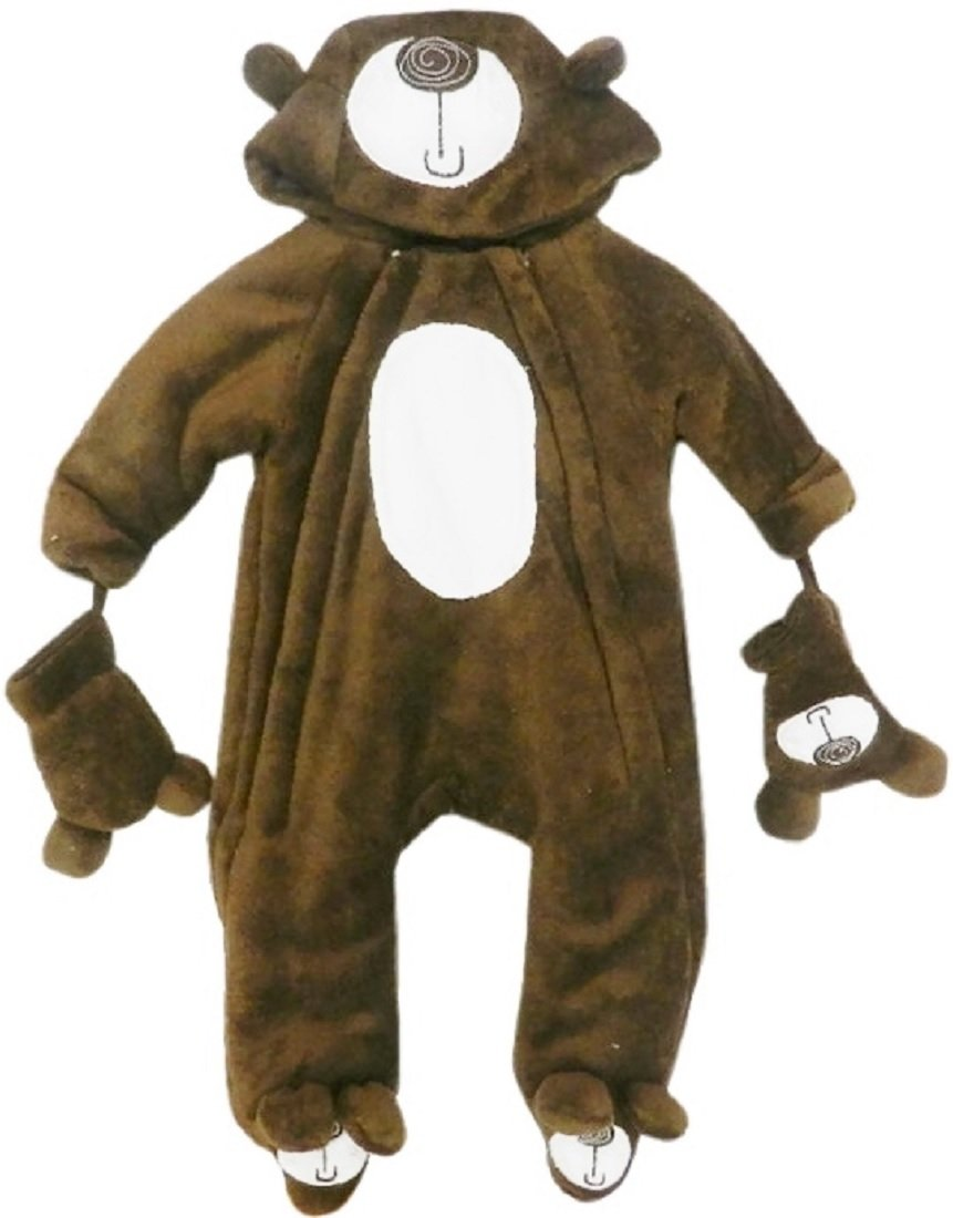 Baby Bear Microplush Snowsuit for Infants 9-12 Months