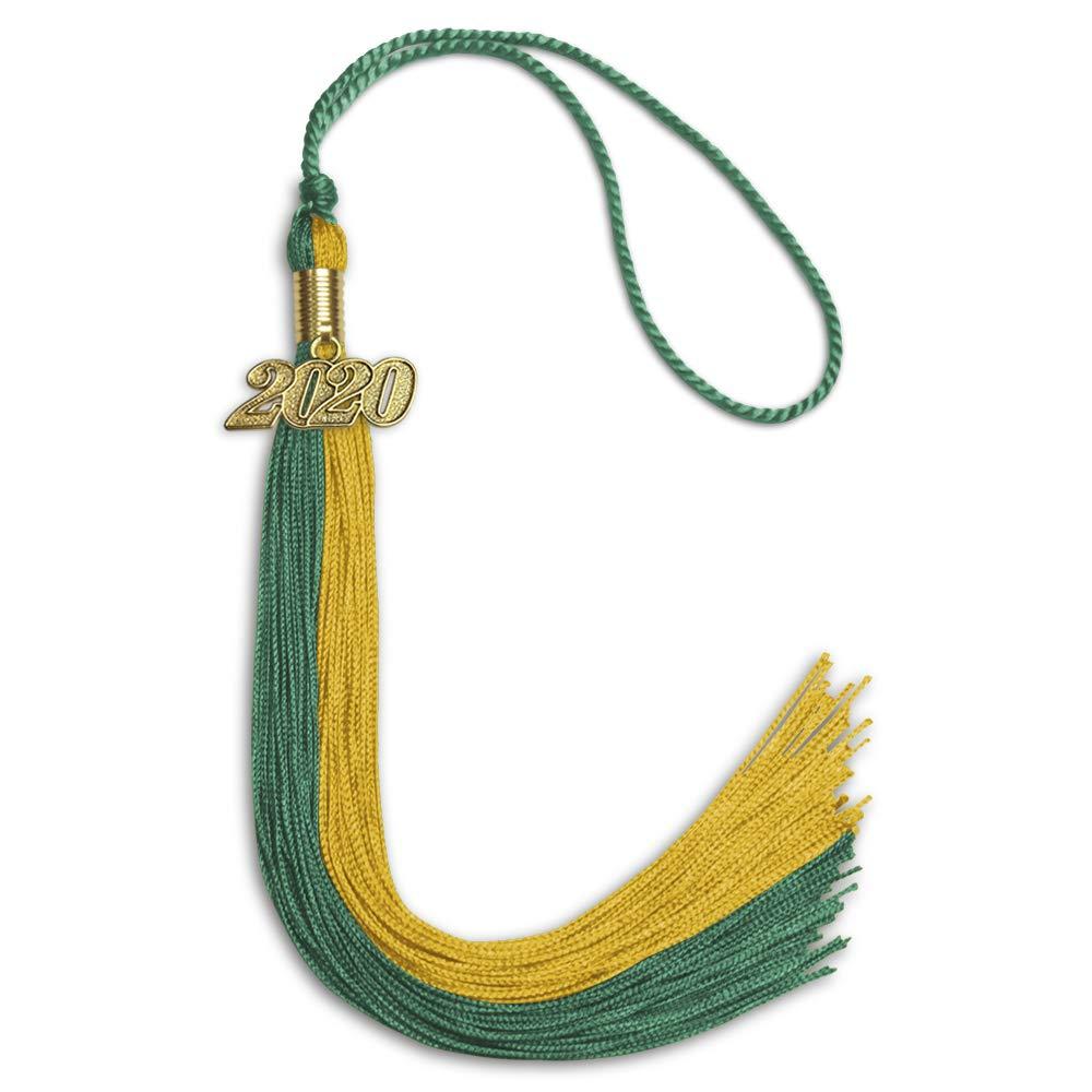 Endea Graduation Double Color Tassel With Gold Date Drop