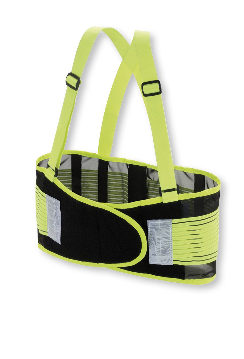 Valeo Industrial VHG8 High Visibility Back Support Lifting Belt, VI9352, Green, Small by Valeo Industrial