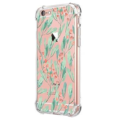 Funda Compatible con iPhone 6 6S Carcasa Silicona Transparente Protector TPU Airbag Anti-Choque Ultra-Delgado Case para Teléfono Apple iPhone 6/6S ...