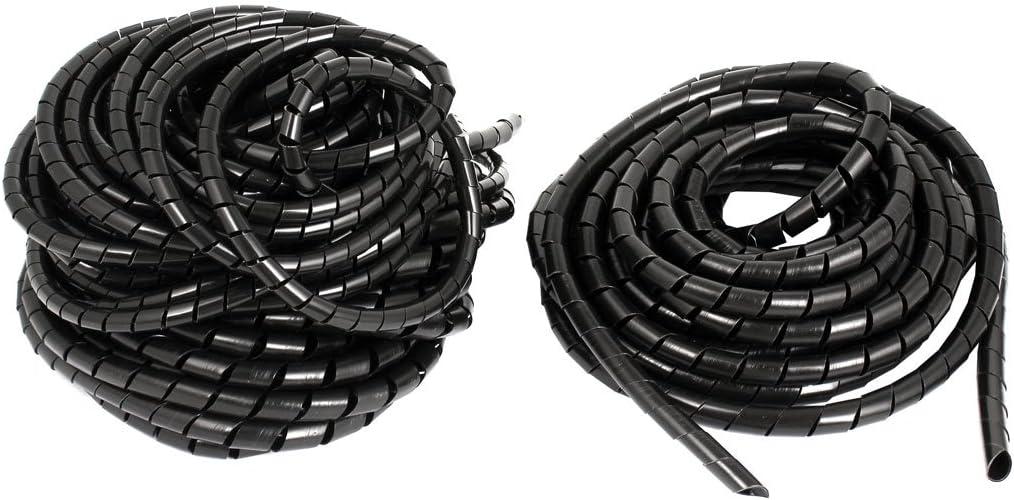 sourcingmap® Cine TV Cable PC Encuadernación Cable Envolver Ordenado Envoltura en espiral de amarre banda 8mm 37Ft 3pcs: Amazon.es: Coche y moto