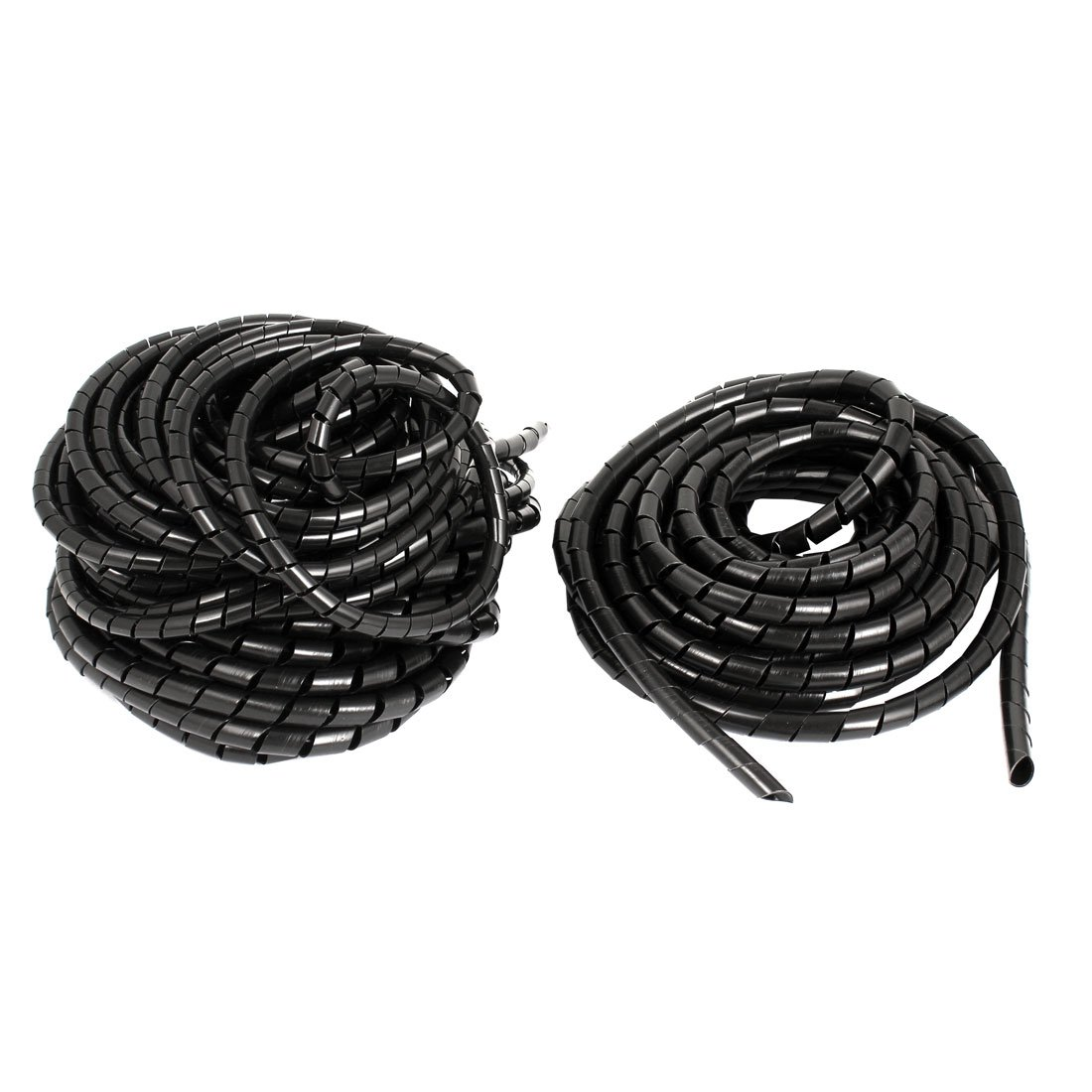 PC Cinema TV Cable Wire Tidy Wrap Spiral Wrapping Band 8mm 37Ft 3pcs