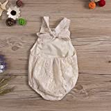 Newborn Infant Baby Girl Clothes Lace Halter