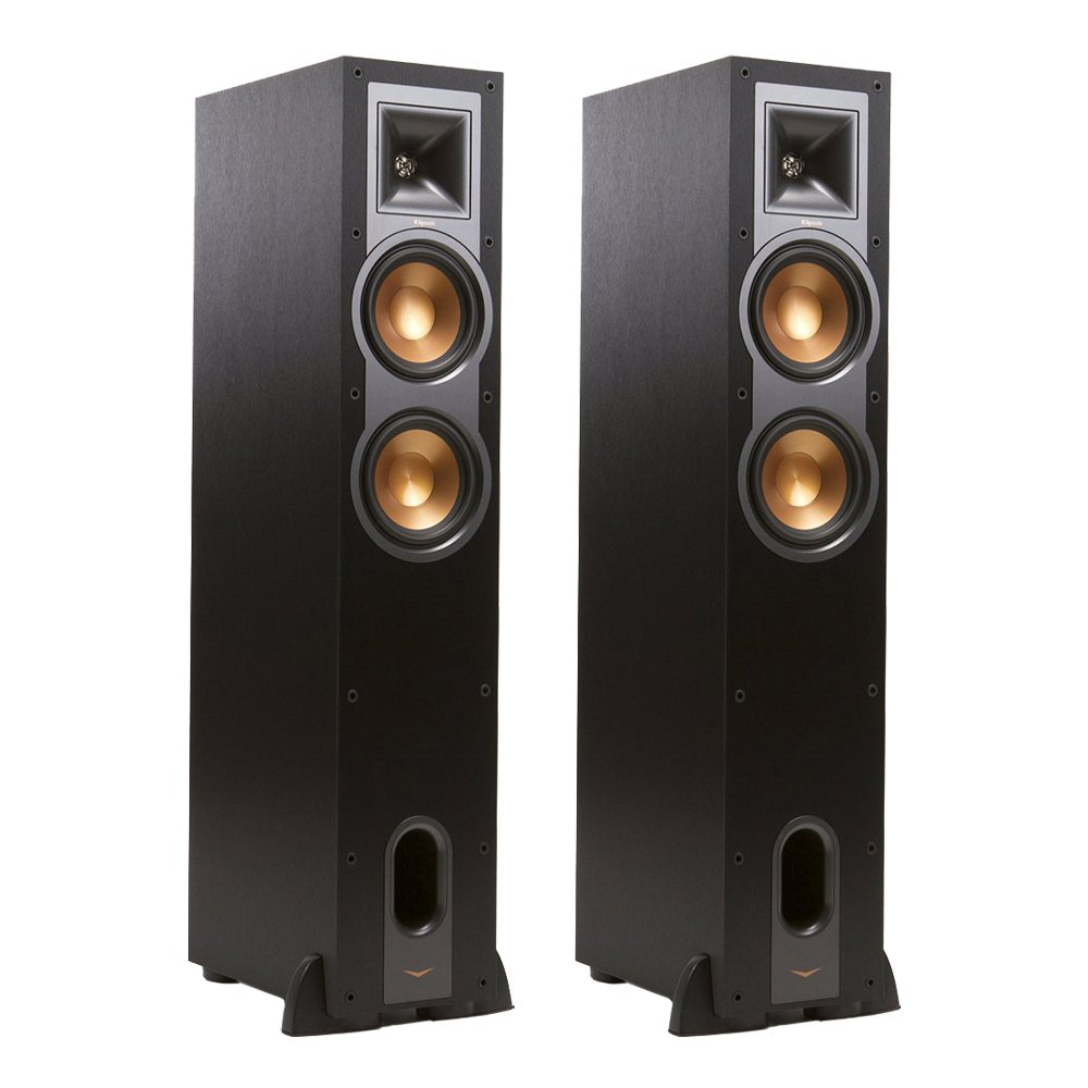 Klipsch R-26F Dual 6-inch Floorstanding Speaker 2-Pack Audion Bundle