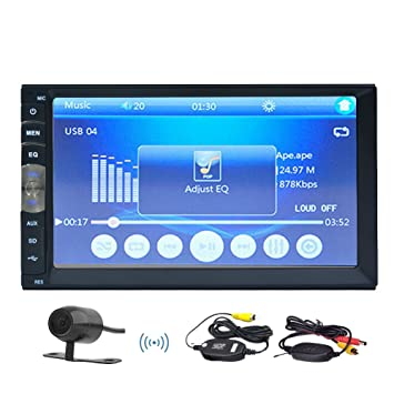 7018B 7Inch HD LCD Doble 2 DIN en el tablero de coches Multi- capacitiva de