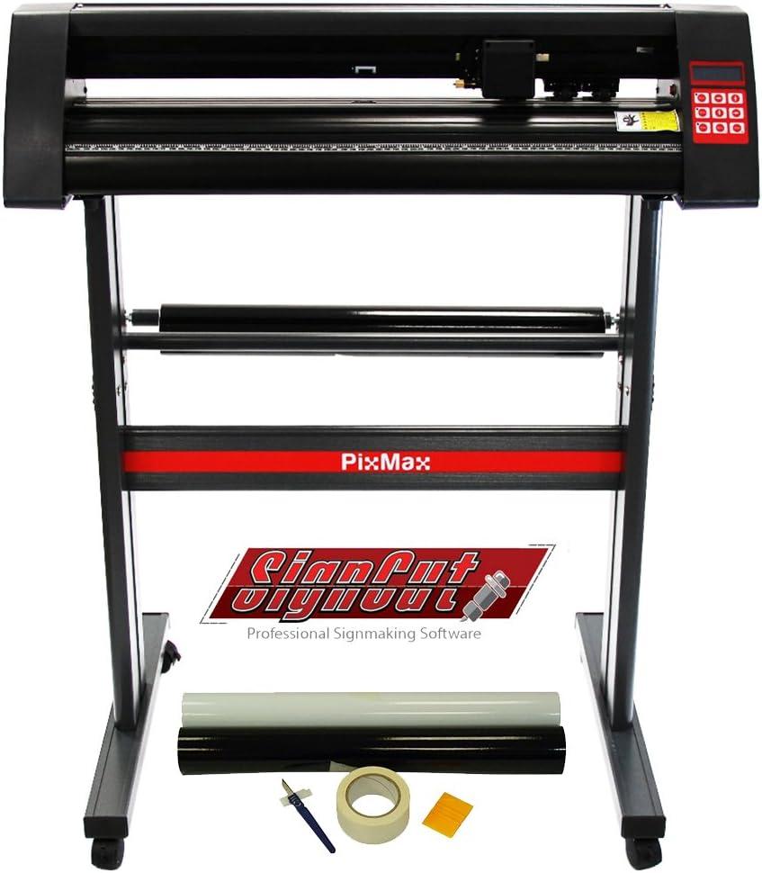 PixMax - Plotter de Corte de Vinilo 72cm, Software SignCut Pro y Kit para Weeding
