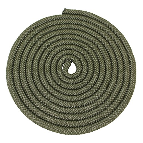 Nylon Rope Utility Rope (5/8 inch) - SGT KNOTS - Polypropylene Sheath - Moisture & Mildew Resistant - for Crafts, Cargo, Tie-Downs, Marine, Camping, Swings (100 ft - OD Green) by SGT KNOTS (Image #1)