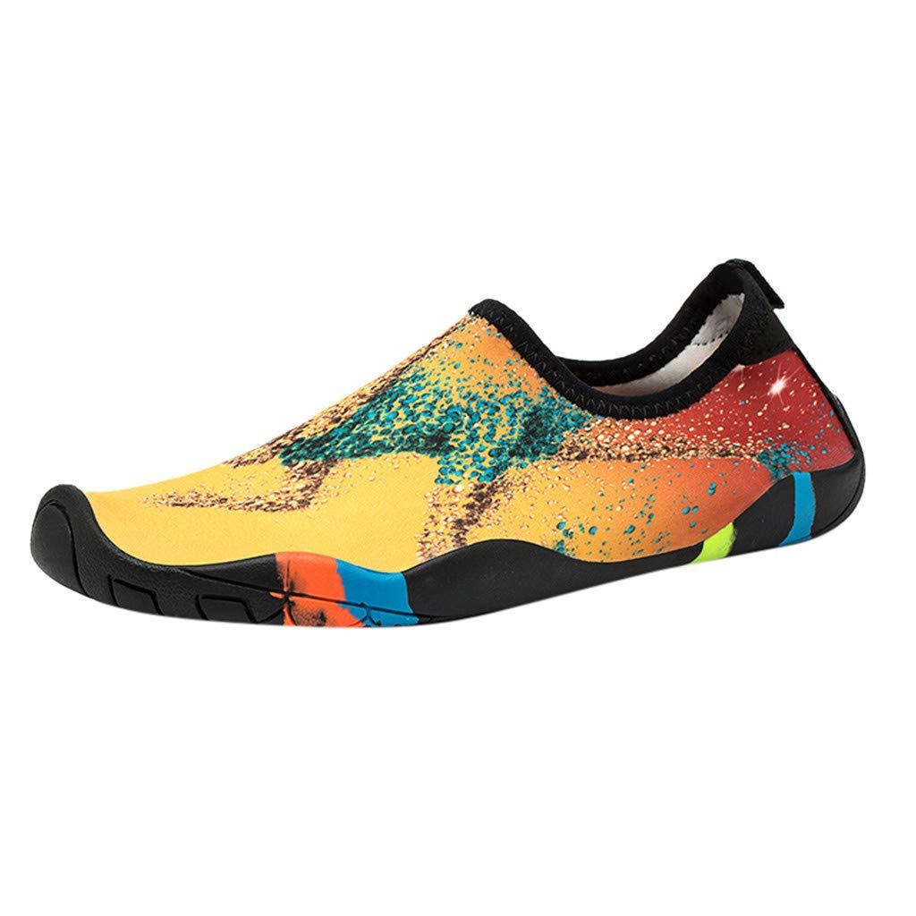 Moonuy Hommes Femmes Chaussures d'eau Eté Chaussures De Natation D'été Couple À Séchage Rapide Plongée Aux Pieds Nus Sport Plage Chaussures De Yoga
