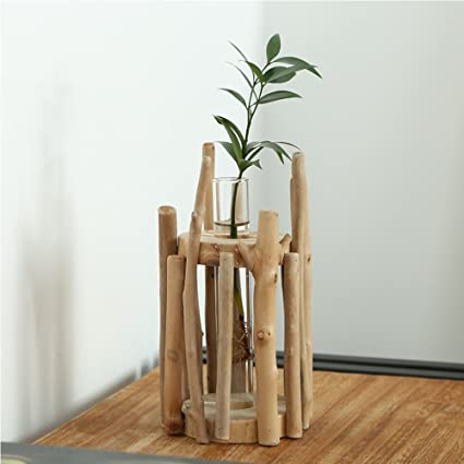 Amazon Anthree Vases For Decor Tall Wood Vase Round For