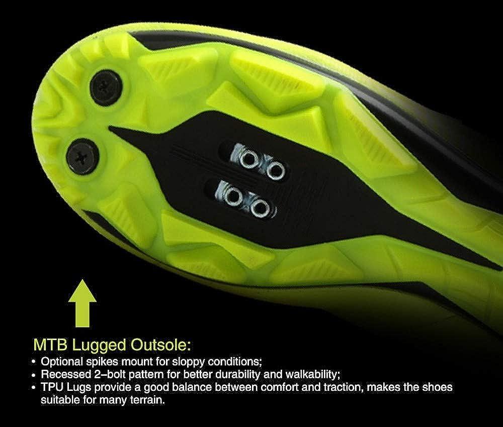 Tiebao Women Mountain TPU Biking MTB Cycling Shoes Breathable Self-Locking Ultralight Sneakers Black