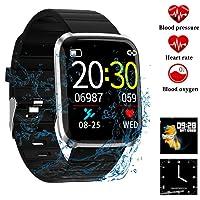 Litake Smart Watch Fitness Tracker,HD Color Screen 116 Pro Smart Wristband Fitness Bracelet Blood Pressure Heart Rate Monitor