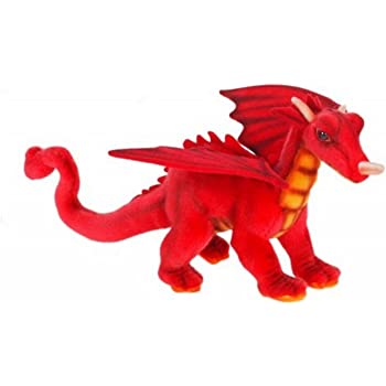 Pack of 3 Life-Like Handcrafted Extra Soft Plush Mini Red Great Dragon Stuffed Animal 11.75