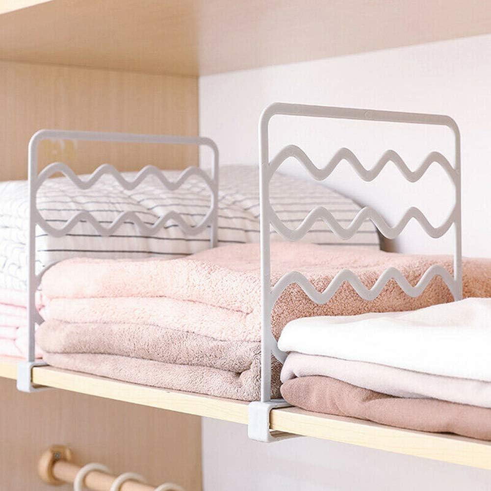 Cvian 2 divisori per mensole in legno per armadi in legno bianco basta far scorrere per regolare la distanza appropriata dellarmadio divisore e separatore