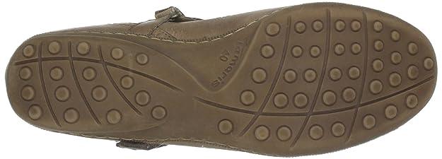 Tamaris 1-1-24600-20 - Mocasines de cuero para mujer, color marrón, talla 40