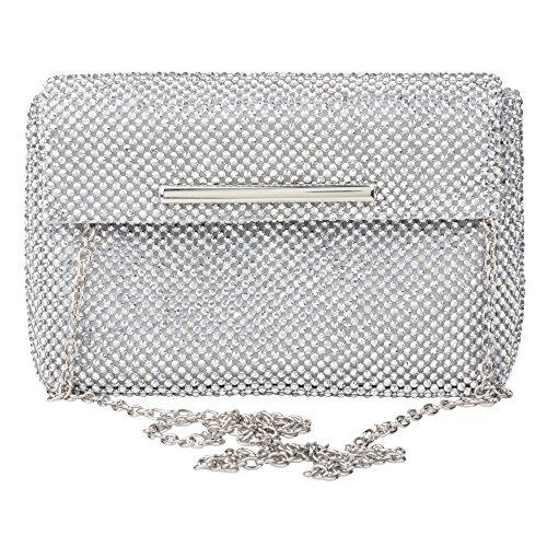 La Regale Crystal Mesh Mini Pouch Evening Clutch & Formal Handbag Purse
