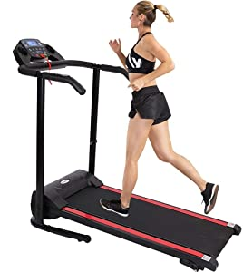 DD-home 2HP Folding Walking Treadmill Electric Under-Desk Treadmill Smart Running Treadmill Compact Jogging Exercise Machine for Home Gym with Device Holder Shock & LCD Monitor