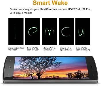 HOMTOM HT7 Pro 4G LTE - Smartphone Libre Android 5.1 (5.5 HD, Dual Sim, Quad Core, 16Gb, 2Gb Ram, Hotknot Smart Wake Air Gestures, 8Mp), Gris: Amazon.es: Electrónica