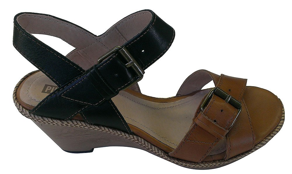 Pikolinos Women's Gomera Wedge Sandals B00C9ZJRK8 40 M EU / 9.5-10 B(M) US|Calabaza / Black