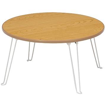不二貿易 ローテーブル 丸 幅60×奥行60×高さ31.5cm