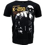 Star Wars Rogue One K-2SO Noir T-shirt Officiel Disney Autorisé Film