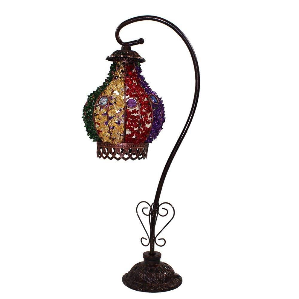 RBB Europäische Stil Einfache Persönlichkeit Kreative Tischlampe; Bohemian Style Schlafzimmer Lampe Wohnzimmer Lampe; Eisen-Fertigkeit-Lampe E14 Lichtquelle-Schnittstelle, Spannung  110V  240V