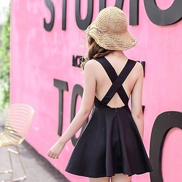 pllp Vestido sin espalda, falda de fiesta de falda de hoja de verano de loto