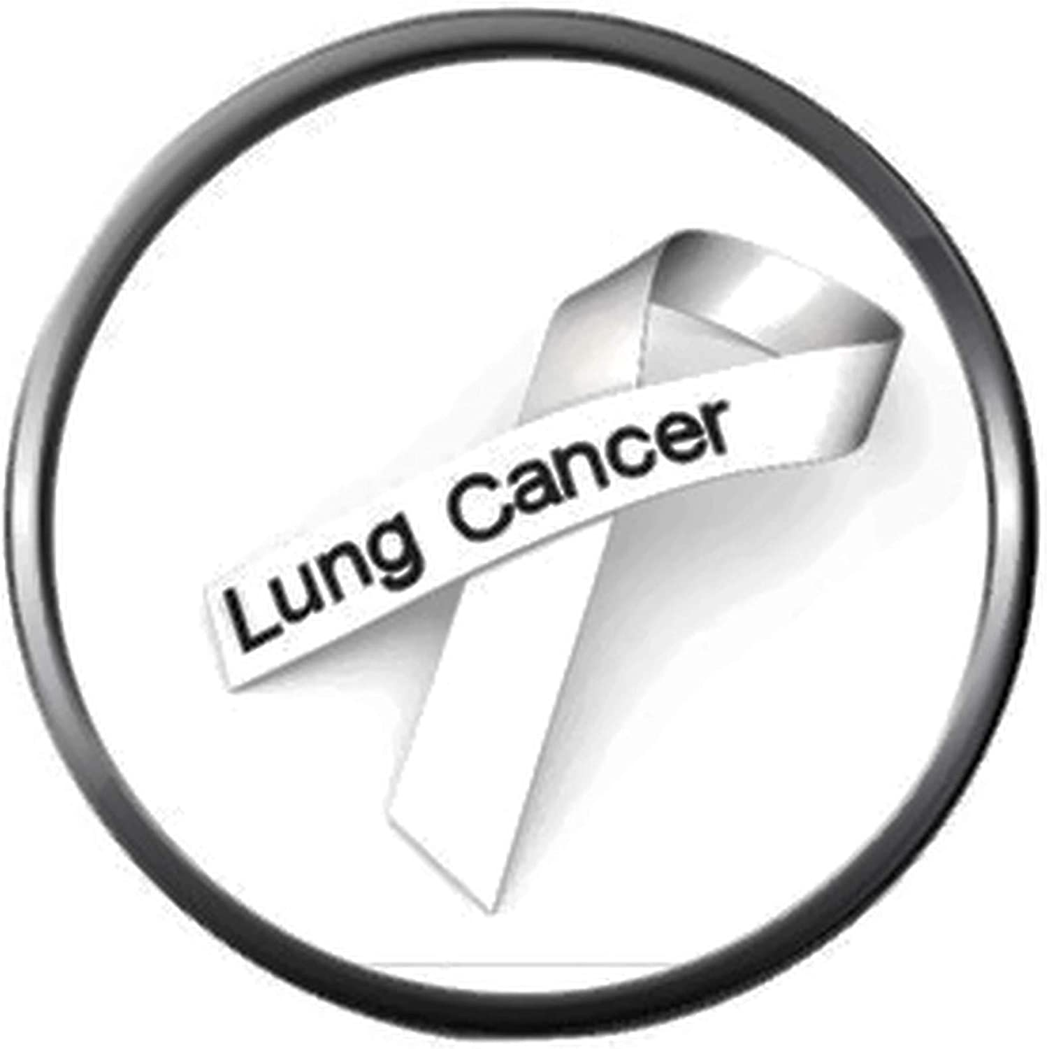 Cancer White Ribbon Lung Cancer Fashion Snap Jewelry Charm New Item