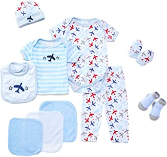 WARMSHOP Baby Girls Layette Sets Cartoon Animal Short Sleeve Romper Button-End Cotton Hooded Outfits Summer Clothes