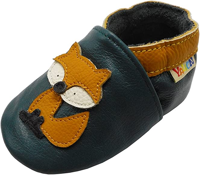YALION Leather Baby Toddlers Moccasins