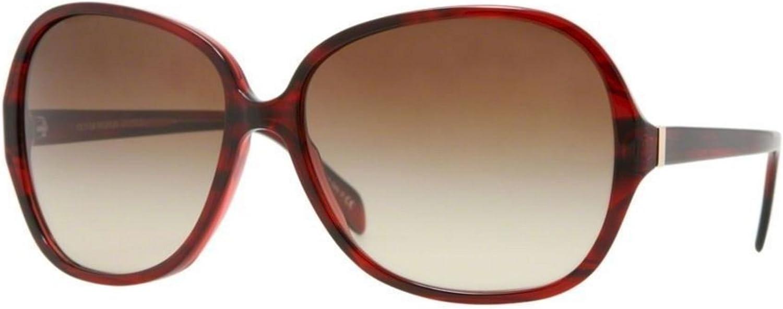 New Oliver Peoples Isobel 5110S 105313 Red Havanan//Brown Gradient Sunglasses