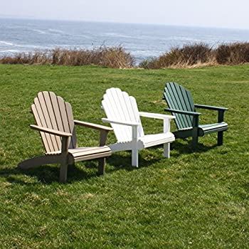 Amazoncom Malibu Outdoor Living Hampton Adirondack Chair Sand - Malibu outdoor furniture