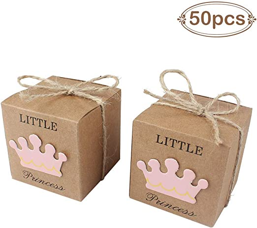 Amazon.com: AerWo - 50 cajas de regalo para baby shower + 50 ...