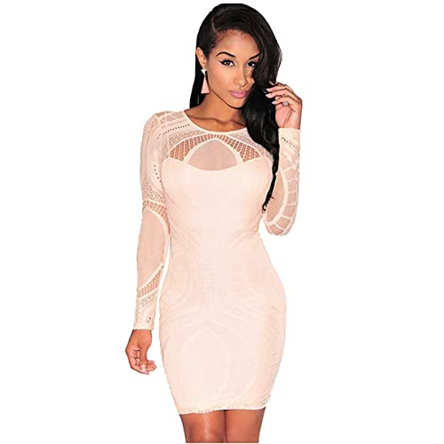 RoseSummer Women Sexy Bandage Bodycon Cocktail Gown