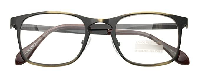 58d6a746c6c Classic Retro Metal Eyeglasses Frame Clear Lens Top Driving Designer Eyewear  (ANTIC GOLD 0201)