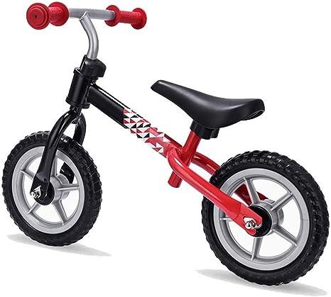 Hejok Bicicleta De Equilibrio Bebe - Bicicleta De Equilibrio Roja, Bicicleta De Equilibrio para NiñOs Scooter De Dos Ruedas Sin Pedal Scooter De Equilibrio para NiñOs Andador: Amazon.es: Deportes y aire libre