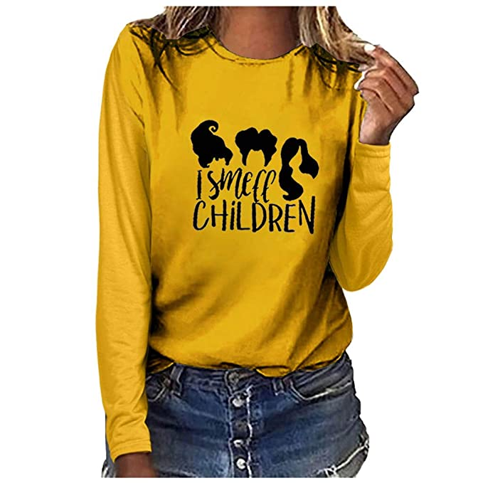 Blusas para Mujer Otoño, K-Youth Halloween I Smell Children ...