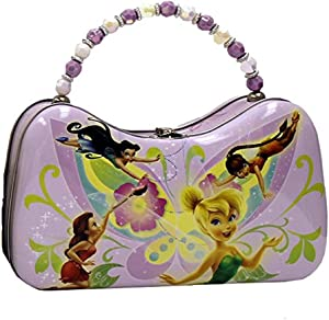 Disney Fairies Tinkerbell and Friends Scoop Purse Tin With Beaded Handle