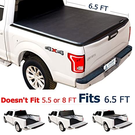 Leader Accessories 65ft Tri Fold Tonneau Truck Bed Cover Compatible With 2015 2016 2017 2018 Ford F150 Styleside Trucks Short Bed
