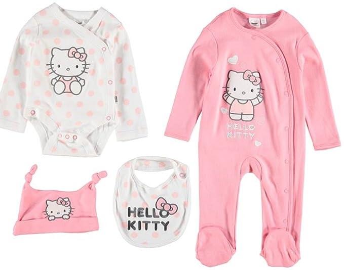Hello Kitty - Pijamas Enteros - para bebé niña Rosa Rosa 18-24 Meses