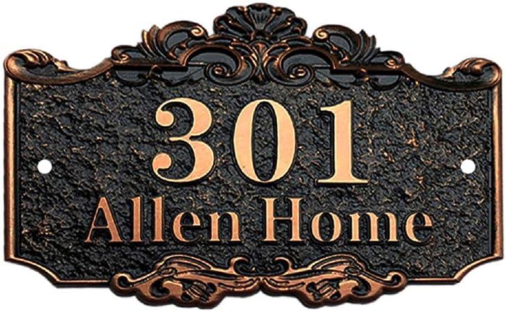 Amazon.com: Placa de número de casa personalizada de Aspire ...