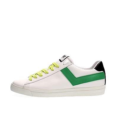 reputable site 5f77d fea9c Pony Sneaker Pelle Bianca e Verde: Amazon.it: Scarpe e borse