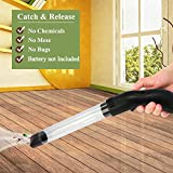 SEICOSY Bug Spider Catcher Long Handle Vacuum Sunction Insects and Bug Catcher with LED Light (Black and Transparent)