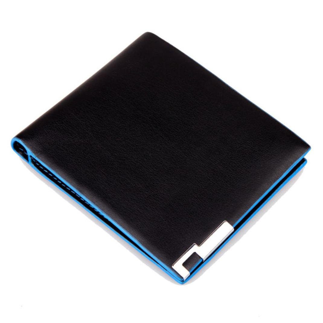 Slimfold Wallet Card Holder Coin Wallet Purse PU Wobuoke Men Bags Stylish Bifold Business Leather