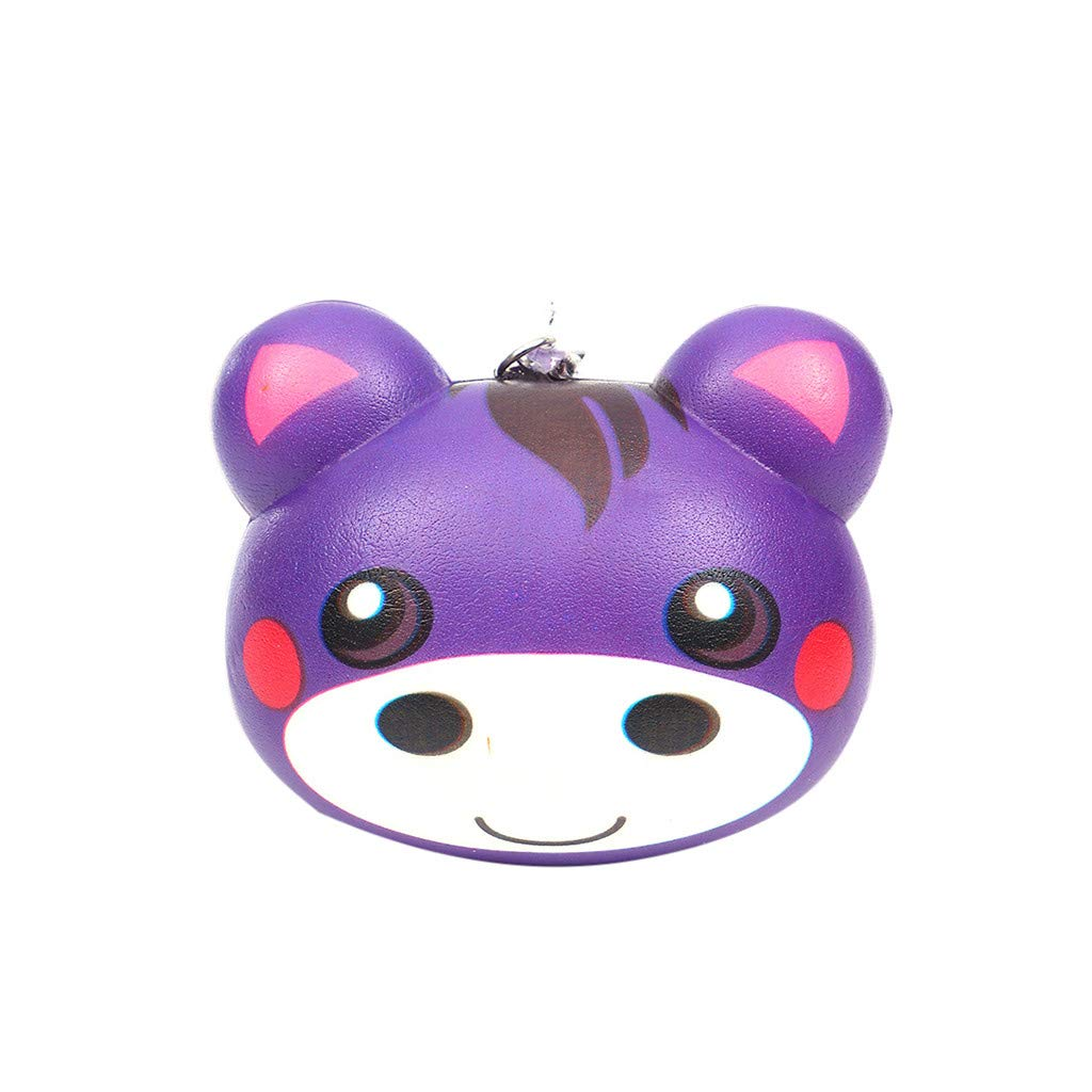 Dianli Small Size Colorful Cute Animals Super Slow Rising Sweet Scented Squeeze Anti Pressure Stress Relief 12 Type for Keychain Squishy Toys